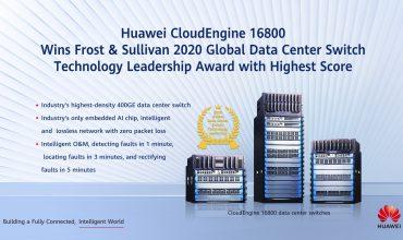 Huawei wins Frost & Sullivan 2020 Global Data Center Switch Technology Leadership Award