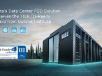 Delta's data center POD solution receives TIER III-Ready certification